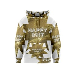 Happy New Year 2017 Gold White Star Kids  Zipper Hoodie by yoursparklingshop