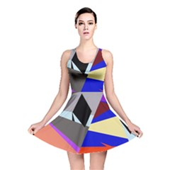 Geometrical Abstract Design Reversible Skater Dress by Valentinaart