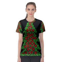 Sparkling Christmas Tree Women s Sport Mesh Tee by Valentinaart