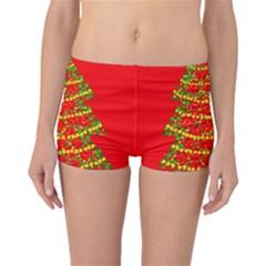 Sparkling Christmas Tree   Red Boyleg Bikini Bottoms by Valentinaart