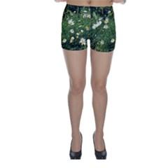 Wild Daisy Summer Flowers Skinny Shorts by picsaspassion