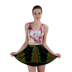 Christmas Trees Pattern Mini Skirt by Valentinaart
