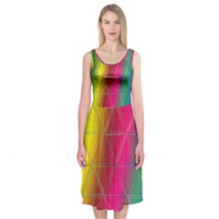 Rainbow Midi Sleeveless Dress by Contest2476114