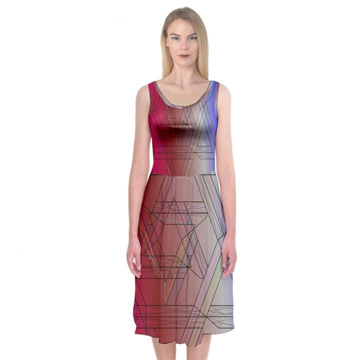 Star Midi Sleeveless Dress