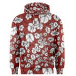 Cvdr0098 Red White Black Flowers Men s Pullover Hoodie