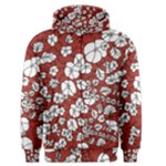 Cvdr0098 Red White Black Flowers Men s Zipper Hoodie