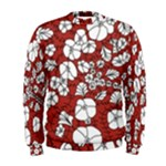 Cvdr0098 Red White Black Flowers Men s Sweatshirt