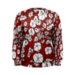 Cvdr0098 Red White Black Flowers Women s Sweatshirt