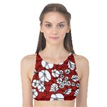 Cvdr0098 Red White Black Flowers Tank Bikini Top