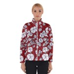Cvdr0098 Red White Black Flowers Winterwear