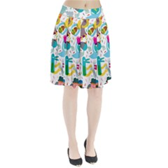Colorful Cartoon Funny People Pleated Skirt by AnjaniArt