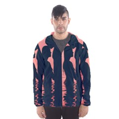 Couple In Love Beach Hooded Wind Breaker (men)