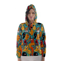 Creature Cluster Hooded Wind Breaker (women) by AnjaniArt