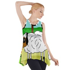 Urban Sheep Side Drop Tank Tunic by Valentinaart