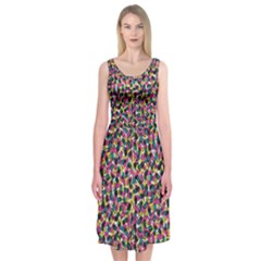 Confetti Sprinkles Midi Sleeveless Dress by Contest2481019