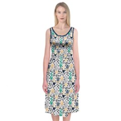 Cactus Plants Midi Sleeveless Dress by Contest2481019