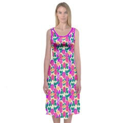 Peony Garden  Midi Sleeveless Dress by Contest2481019