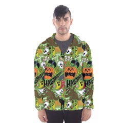 Halloween Pattern Hooded Wind Breaker (men)