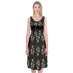 Dark Garden Midi Sleeveless Dress by Contest2504870