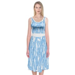 Blue Elegant Design Midi Sleeveless Dress by Contest2491068