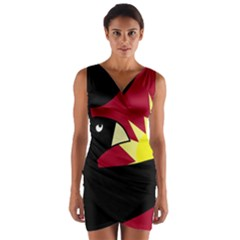 Eagle Wrap Front Bodycon Dress by Valentinaart
