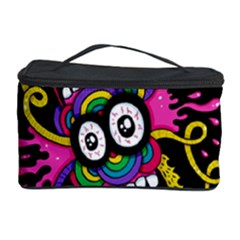 Monster Face Mask Patten Cartoons Cosmetic Storage Case by AnjaniArt