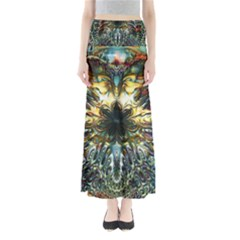 Metallic Abstract Flower Copper Patina Maxi Skirts by CrypticFragmentsDesign