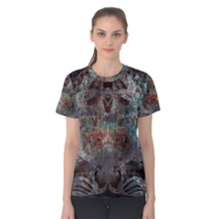1a Mirror Lost Abstract  (2) Women s Cotton Tee by CrypticFragmentsDesign
