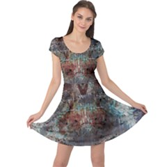 1a Mirror Lost Abstract  (2) Cap Sleeve Dresses by CrypticFragmentsDesign