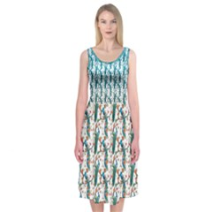 Peacock Midi Sleeveless Dress by Contest2519213