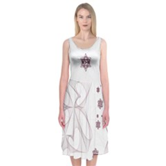 Translucent Star Midi Sleeveless Dress by Contest2476114