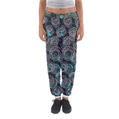 Gray And Blue Abstract Art Women s Jogger Sweatpants by Valentinaart