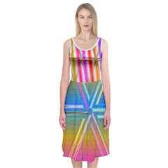 Neon Midi Sleeveless Dress by Contest2476114