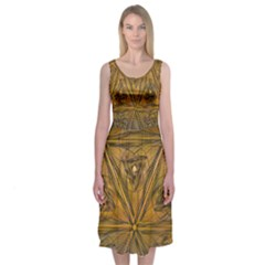 Copper Triangle Midi Sleeveless Dress by Contest2476114