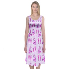 Unicorns & Icecreams In Mallow Wildflower Midi Sleeveless Dress by Contest2504870