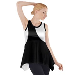 Black And White Moonlight Side Drop Tank Tunic by Valentinaart