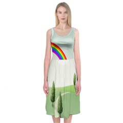 The Sky Midi Sleeveless Dress by Contest2519816
