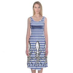 Chevron Squid Midi Sleeveless Dress by Contest2504870