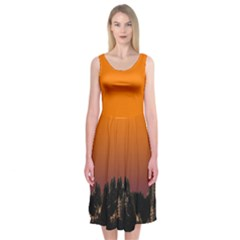 Pinetrees Sunset Midi Sleeveless Dress