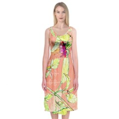 Bohemian Roses Midi Sleeveless Dress by Contest2502465