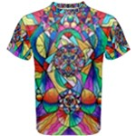 Blue Ray Transcendence Grid - Men s Cotton Tee