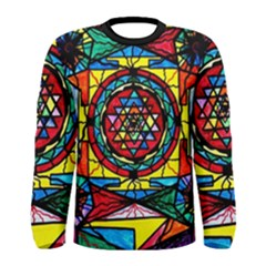 Sri Yantra   Men s Long Sleeve Tee by tealswan