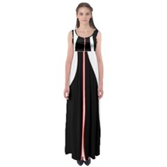 White, Red And Black Empire Waist Maxi Dress by Valentinaart