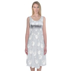 White Swans Midi Sleeveless Dress by Contest2494934