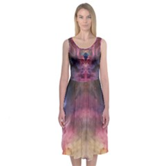 Galactic Empress Midi Sleeveless Dress by PazCS