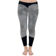 Close To The Full Moon Winter Leggings  by picsaspassion