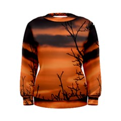 Tree Branches And Sunset Women s Sweatshirt by picsaspassion
