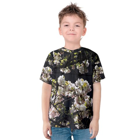 Japanese Cherry Flower Kids  Cotton Tee by picsaspassion