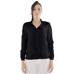 Black Color Design Wind Breaker (women)