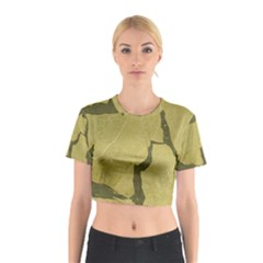 Stylish Gold Stone Cotton Crop Top by yoursparklingshop